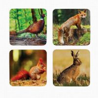 Wildlife Animals Heat Resistant Cork Back Coasters